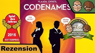 "YouTube Review vom Spiel ""Codenames: Pictures"" von ""Hunter & Cron - Brettspiele"""
