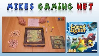 "YouTube Review vom Spiel ""Loony Quest"" von ""Mikes Gaming Net - Brettspiele"""
