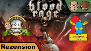 "YouTube Review vom Spiel ""Blood Rage"" von ""Hunter & Cron - Brettspiele"""