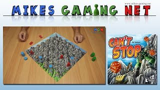 "YouTube Review vom Spiel ""Can't Stop"" von ""Mikes Gaming Net - Brettspiele"""