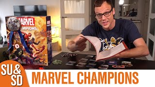 "YouTube Review vom Spiel ""Marvel Champions: Das Kartenspiel"" von ""Shut Up & Sit Down"""