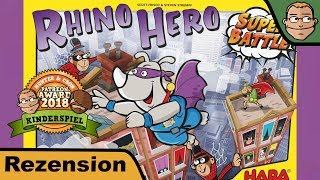 "YouTube Review vom Spiel ""Rhino Hero: Super Battle"" von ""Hunter & Cron - Brettspiele"""