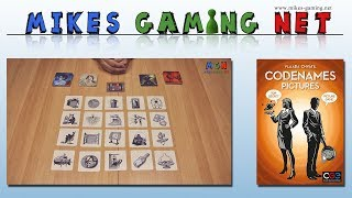 "YouTube Review vom Spiel ""Codenames: Pictures"" von ""Mikes Gaming Net - Brettspiele"""