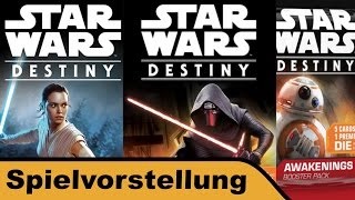 "YouTube Review vom Spiel ""Star Wars: Destiny"" von ""Hunter & Cron - Brettspiele"""