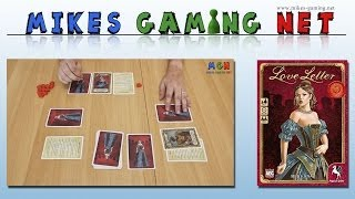 "YouTube Review vom Spiel ""Love Letter (Second Edition, 2019)"" von ""Mikes Gaming Net - Brettspiele"""