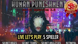 "YouTube Review vom Spiel ""Human Punishment: Social Deduction 2.0"" von ""Brettspielblog.net - Brettspiele im Test"""