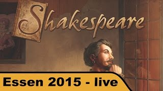 "YouTube Review vom Spiel ""Kill Shakespeare"" von ""Hunter & Cron - Brettspiele"""