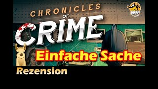 "YouTube Review vom Spiel ""Chronicles of Crime"" von ""Spielama"""