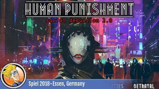 "YouTube Review vom Spiel ""Human Punishment: Social Deduction 2.0"" von ""BoardGameGeek"""