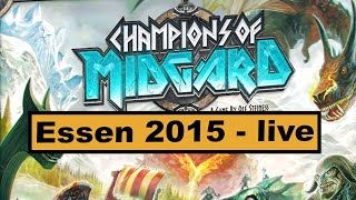 "YouTube Review vom Spiel ""Champions of Midgard"" von ""Hunter & Cron - Brettspiele"""