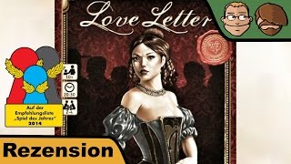 "YouTube Review vom Spiel ""Love Letter (Second Edition, 2019)"" von ""Hunter & Cron - Brettspiele"""