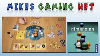 "YouTube Review vom Spiel ""Dimension"" von ""Mikes Gaming Net - Brettspiele"""